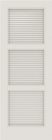 WDMA 12x80 Door (1ft by 6ft8in) Interior Barn Smooth SL-3100-LVR MDF 3 Panel Vented Louver Single Door 1