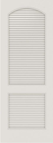 WDMA 12x80 Door (1ft by 6ft8in) Interior Barn Smooth SL-2020-LVR MDF 2 Panel Arch panel Vented Louver Single Door 1