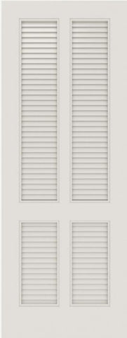 WDMA 12x80 Door (1ft by 6ft8in) Interior Barn Smooth SL-4010-LVR MDF 4 Panel Vented Louver Single Door 1