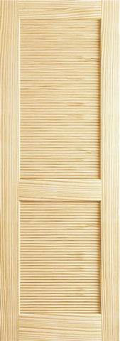 WDMA 18x80 Door (1ft6in by 6ft8in) Interior Barn Pine 80in Louver/Louver Clear Single Door 1
