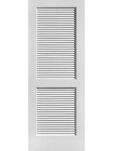 WDMA 18x80 Door (1ft6in by 6ft8in) Interior Barn Pine 80in Louver/Louver Primed Single Door 1