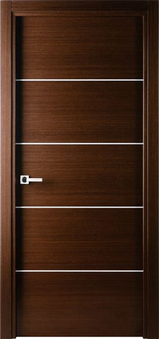 WDMA 18x80 Door (1ft6in by 6ft8in) Interior Swing Wenge Contemporary Single Door with Decorative Strips 1