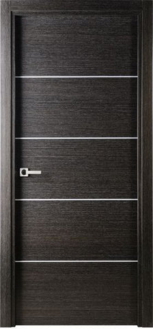 WDMA 18x80 Door (1ft6in by 6ft8in) Interior Barn Black Apricot Modern Single Door Italian Legna Nera Decorative Strips 1