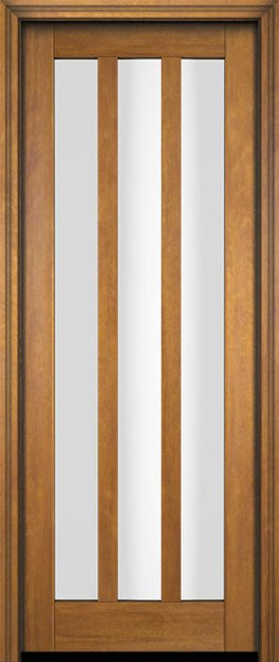 WDMA 18x80 Door (1ft6in by 6ft8in) Interior Barn Mahogany Modern Slim 3 Glass Shaker Exterior or Single Door 1