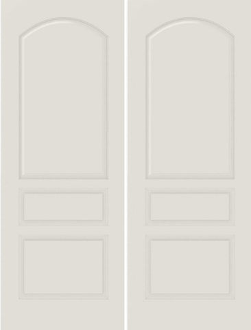 WDMA 20x80 Door (1ft8in by 6ft8in) Interior Bifold Smooth 3020 MDF 3 Panel Arch Panel Double Door 1