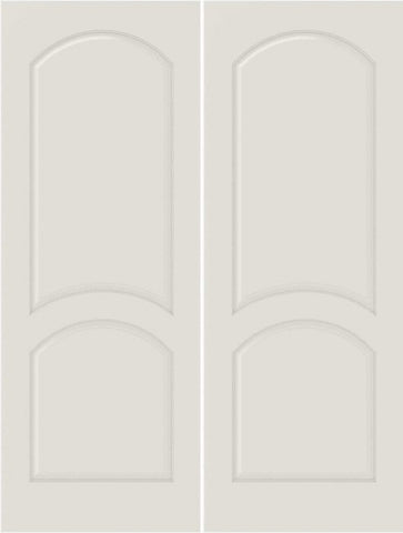 WDMA 20x80 Door (1ft8in by 6ft8in) Interior Bifold Smooth 2030 MDF 2 Panel Arch Panel Double Door 1