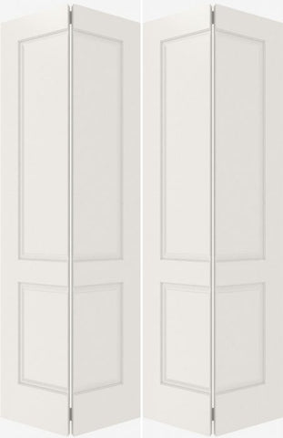 WDMA 20x80 Door (1ft8in by 6ft8in) Interior Bifold Smooth 2010 MDF 2 Panel Double Door 2