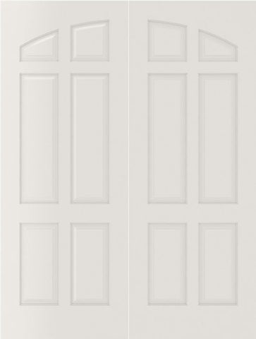 WDMA 20x80 Door (1ft8in by 6ft8in) Interior Bifold Smooth 6060 MDF Pair 6 Panel Arch Panel Double Door 1