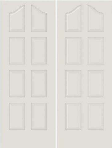 WDMA 20x80 Door (1ft8in by 6ft8in) Interior Bifold Smooth 8050 MDF 8 Panel Arch Panel Double Door 1