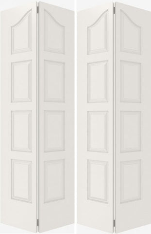 WDMA 20x80 Door (1ft8in by 6ft8in) Interior Bifold Smooth 8050 MDF 8 Panel Arch Panel Double Door 2