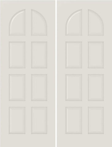 WDMA 20x80 Door (1ft8in by 6ft8in) Interior Bifold Smooth 8040 MDF 8 Panel Round Panel Double Door 1