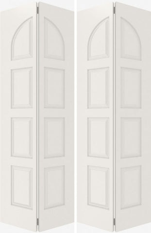 WDMA 20x80 Door (1ft8in by 6ft8in) Interior Bifold Smooth 8040 MDF 8 Panel Round Panel Double Door 2