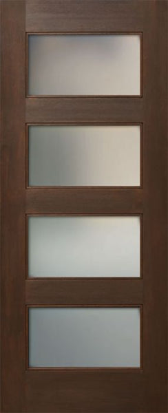 WDMA 24x80 Door (2ft by 6ft8in) Interior Mahogany 80in Four Lite Square Sticking w/Reveal Single Door 1