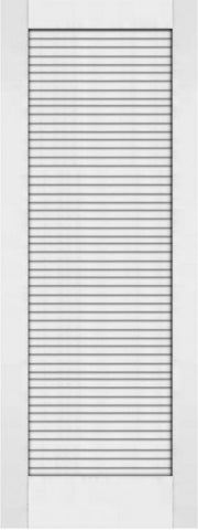 WDMA 24x80 Door (2ft by 6ft8in) Interior Swing Pine 80in Primed Plantation Louvers Single Door | 733 1