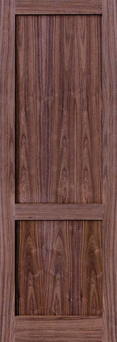 WDMA 24x96 Door (2ft by 8ft) Interior Walnut 96in 2 Panel Square Sticking Compression Fit Single Door 1