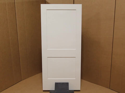 WDMA 24x96 Door (2ft by 8ft) Interior Swing Smooth 96in Monroe 2 Panel Shaker Solid Core Single Door|1-3/4in Thick 3