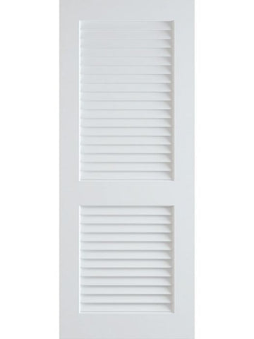 WDMA 24x96 Door (2ft by 8ft) Interior Swing Pine 96in Primed Plantation Louvers Single Door | 730 1