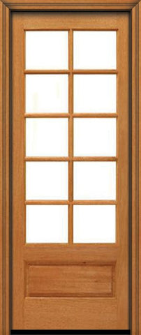 WDMA 24x96 Door (2ft by 8ft) French Mahogany 96in 10 lite 1 Panel Single Door IG Glass 1
