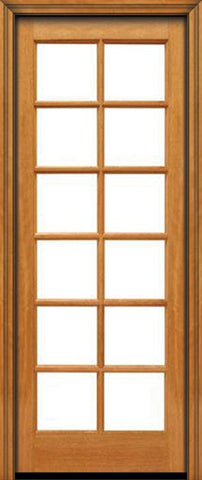 WDMA 24x96 Door (2ft by 8ft) Patio Mahogany 96in 12 lite French Single Door IG Glass 1