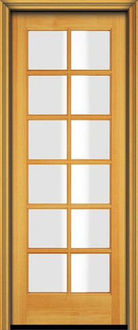 WDMA 24x96 Door (2ft by 8ft) Patio Fir 96in 12 Lite French Single Door 1