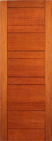 WDMA 24x96 Door (2ft by 8ft) Interior Swing Mahogany RB-01 Contemporary Modern Single Door 1