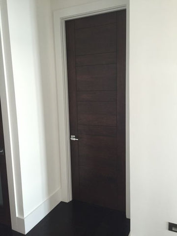 WDMA 24x96 Door (2ft by 8ft) Interior Swing Mahogany RB-01 Contemporary Modern Single Door 3
