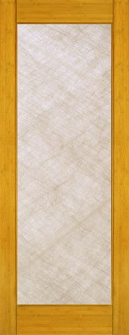 WDMA 24x96 Door (2ft by 8ft) Interior Barn Bamboo BM-31 Contemporary Full Lite Silk IG Glass Single Door 1