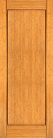 WDMA 24x96 Door (2ft by 8ft) Interior Barn Bamboo BM-30 Contemporary 1 Panel Modern Single Door 1