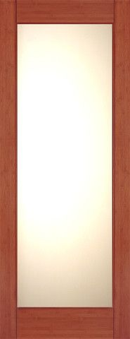 WDMA 24x96 Door (2ft by 8ft) Interior Swing Bamboo BM-32 Contemporary Full Lite Lami IG Glass Single Door 1