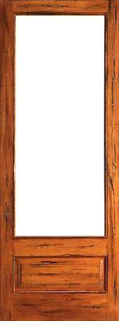WDMA 24x96 Door (2ft by 8ft) Interior Barn Tropical Hardwood Rustic-1-lite-P/B Solid Wood 1 Panel IG Glass Single Door 1