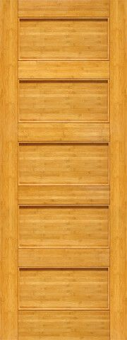 WDMA 24x96 Door (2ft by 8ft) Interior Swing Bamboo BM-10 Contemporary 5 Panel Modern Single Door 1
