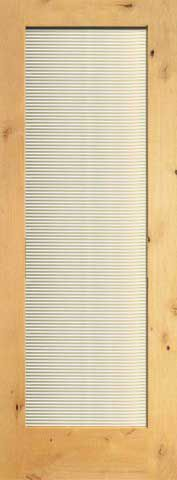 WDMA 24x96 Door (2ft by 8ft) Interior Swing Knotty Alder Conemporary Single Door 1-Lite FG-11 Blinds Glass 1