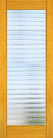 WDMA 24x96 Door (2ft by 8ft) Interior Barn Bamboo BM-34 Contemporary Deco Bars Glass Single Door 1