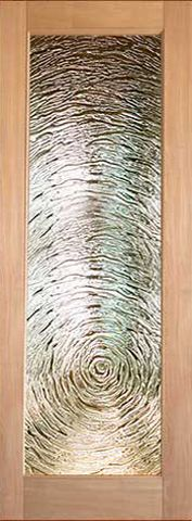 WDMA 24x96 Door (2ft by 8ft) Interior Swing Tropical Hardwood Full Lite Single Door FG-9 Swirl Glass 1