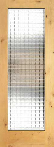 WDMA 24x96 Door (2ft by 8ft) Interior Swing Knotty Alder Single Door 1-Lite FG-10 Weaving Glass 1