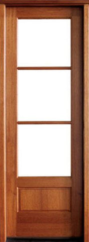 WDMA 24x96 Door (2ft by 8ft) French Swing Mahogany Alexandria TDL 3 Lite Single Door 1