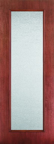 WDMA 24x96 Door (2ft by 8ft) French Mahogany Fiberglass Impact Exterior Door 8ft Full Lite Granite 1