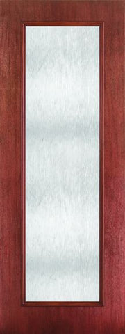 WDMA 24x96 Door (2ft by 8ft) French Mahogany Fiberglass Impact Exterior Door 8ft Full Lite Chord 1