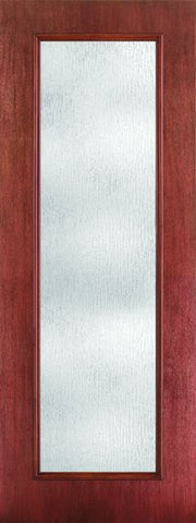 WDMA 24x96 Door (2ft by 8ft) Exterior Mahogany Fiberglass Impact Door 8ft Full Lite Rainglass 1