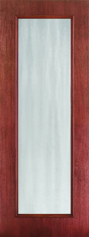 WDMA 24x96 Door (2ft by 8ft) Exterior Mahogany Fiberglass Impact Door 8ft Full Lite Chinchilla 1