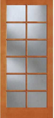 WDMA 28x96 Door (2ft4in by 8ft) Patio Fir 1512 12-Lite Exterior Single Door 1