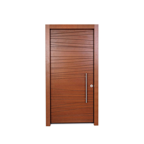 WDMA 30 X 79 36 X 80 48 Inches European Exterior Fire Rated MDF Board HDF Wood Walnut Veneer Door