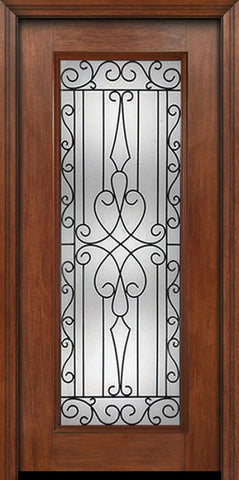 WDMA 30x80 Door (2ft6in by 6ft8in) Exterior Mahogany Full Lite Single Entry Door Wyngate Glass 1