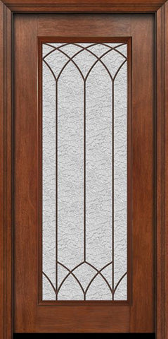 WDMA 30x80 Door (2ft6in by 6ft8in) Exterior Mahogany Full Lite Single Entry Door Davidson Glass 1