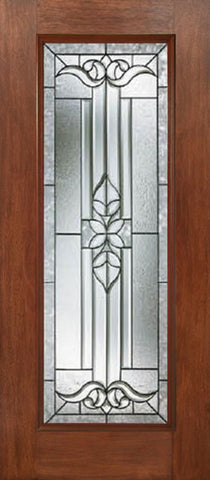 WDMA 30x80 Door (2ft6in by 6ft8in) Exterior Mahogany Full Lite Single Entry Door CD Glass 1