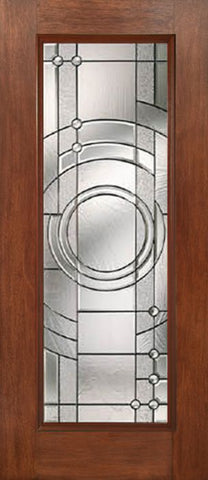 WDMA 30x80 Door (2ft6in by 6ft8in) Exterior Mahogany Full Lite Single Entry Door EN Glass 1