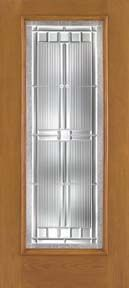 WDMA 30x80 Door (2ft6in by 6ft8in) Exterior Oak Fiberglass Impact Door Full Lite Saratoga 6ft8in 2