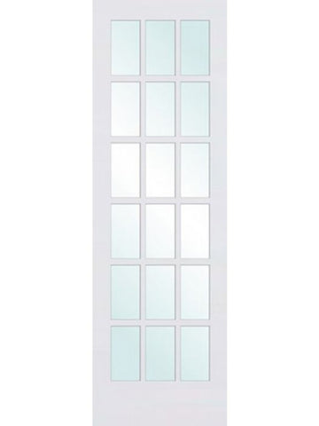 WDMA 30x96 Door (2ft6in by 8ft) Interior Swing Smooth 96in Primed French Single Door | 1518 1