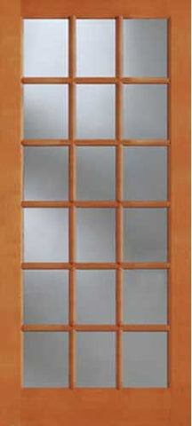 WDMA 30x96 Door (2ft6in by 8ft) Exterior Fir 1518 18-Lite Single Door 1