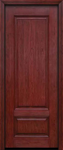 WDMA 30x96 Door (2ft6in by 8ft) Exterior Cherry 96in Two Panel Single Entry Door 1